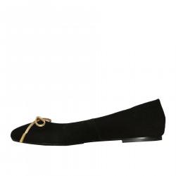 BLACK SUEDE BALLERINA ANNAFLEX MODEL