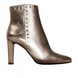 IRON COLORED ANKLE LUDOVIC ANKLE BOOTS