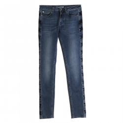 JEANS CON STELLE LATERALI