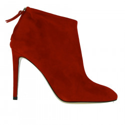 RED SUEDE BOOT