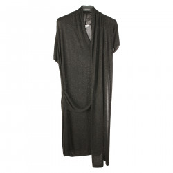 GREY SHORT SLEEVES DRESS