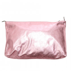 METALLIC PINK CLUTCH