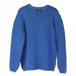 LIGHT BLUE SWEATSHIRT WITH WHITE FRONTAL EMBROIDERY