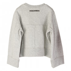 GRAY SWEATSHIRT WITH FRONTAL COLORED PRINT
