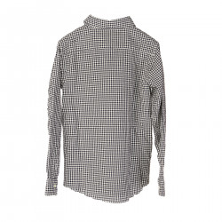 WHITE AND BLUE CHECKED SHIRT