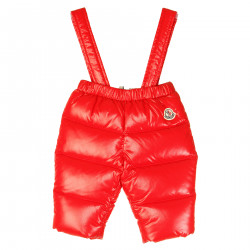 RED SKI TROUSERS WITH BRACES