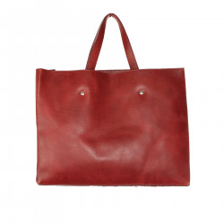 BORSA BORDEAUX IN PELLE