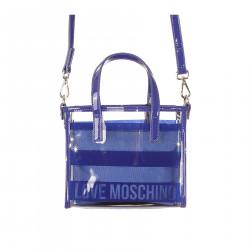 BLUE AND TRANSPARENT BAG