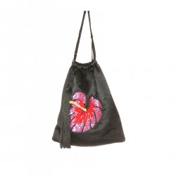 BLACK BAG WITH EMBROIDERY PAILLETTES