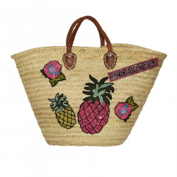 STRAW BAG WITH APPLICATIONS