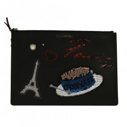 BLACK PARIS POCHETTE