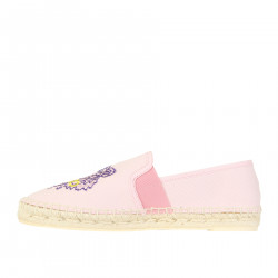 PINK ESPADRILLAS WITH BLUE LOGO