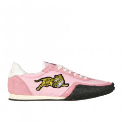 PINK SNEAKERS WITH TIGER APPLICATION