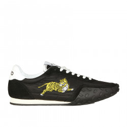 BLACK SNEAKERS WITH TIGER APPLICATION