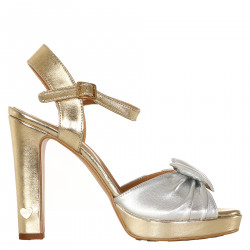 SANDALO GOLD AND SILVER IN LEATHER