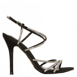 BLACK SANDAL WITH STRAS