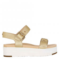 HIGH GOLDEN SANDAL IN LEATHER