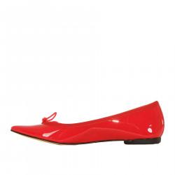 RED BALLERINA IN PATENT BRIGITTE MODEL