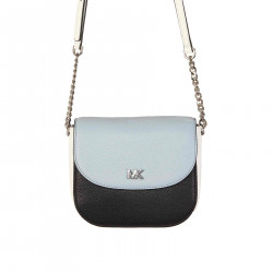 WHITE AND BLUE LEATHER BAG