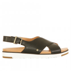 BLACK SANDAL IN LEATHER