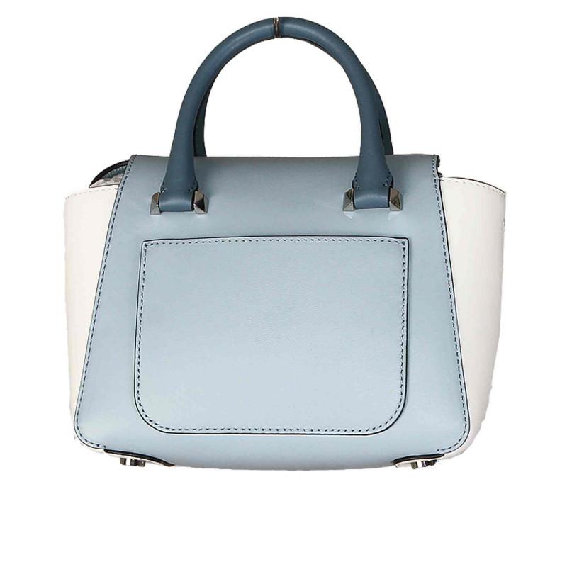c050a73352818 MICHAEL KORS Trovaprezzinuovo LIGHT BLUE AND WHITE LEATHER BAG Woman -  Threedifferent