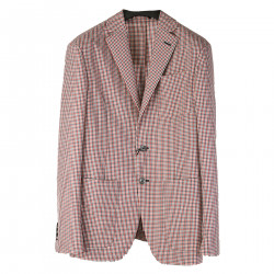 NOTCHED LAPEL CHECHED BLAZER