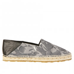 FABRIC AND LEATHER ESPADRILLAS