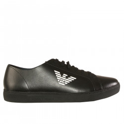 BLACK SNEAKER WITH LOGO