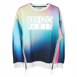 MULTICOLOR SWEATSHIRT WITH FRONTAL PRINT