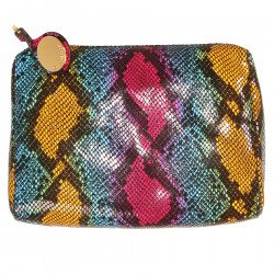 MULTICOLOR PITON DESIGNE CLUTCH