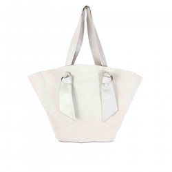 SUEDE GREY BAG WITH APPLICATIONS