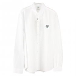WHITE LINEN AND COTTON SHIRT