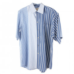 WHITE AND BLUE STRIPED SHIRT WITH POCKET