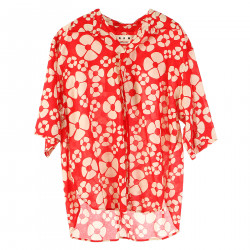 RED AND BEIGE FANTASY SHIRT