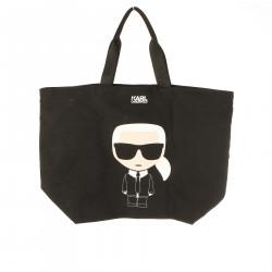 BLACK PRINTED BAG