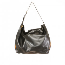 BORSA NERA E MARRONE IN PELLE