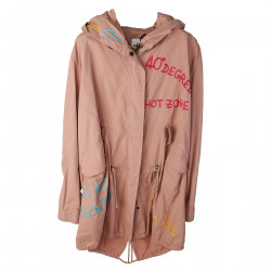 PINK PARKA WITH EMBROIDERY