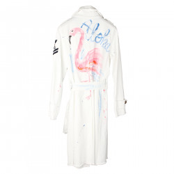 WHITE DOUBLEBREASTED TRENCH