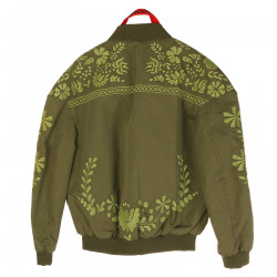 GREEN JACKET WITH EMBROIDERY