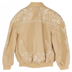 BEIGE JACKET WITH EMBROIDERY