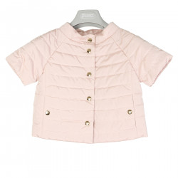PINK PADDED JACKET WITH SHORT SLEEVE