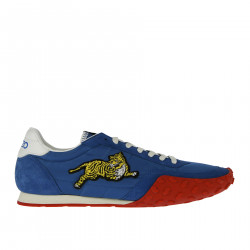 BLUE SNEAKER WITH RED SOLE