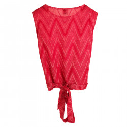 TOP ROSSO LUREX