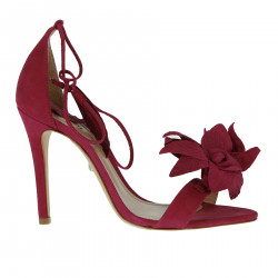 FUXIA SANDAL WITH FLOWER