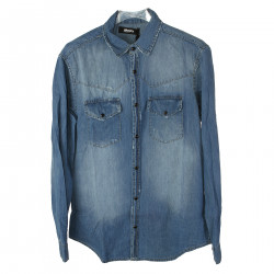 DENIM WORN EFFECT SHIRT