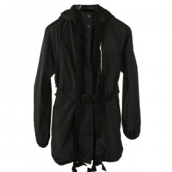 BLACK OVERCOAT WITH HOOD