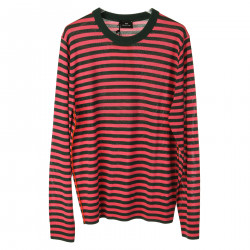 PINK AND GREEN STRIPED PULLOVER