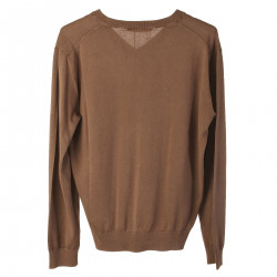 BROWN COTTON PULLOVER