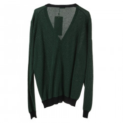 GREEN AND BLUE COTTON CARDIGAN