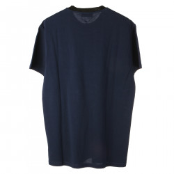BLUE T SHIRT WITH LOGO
